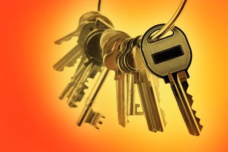 Keys on Orange Background