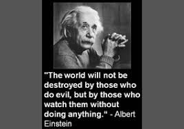 Einstein on being a bullying bystander
