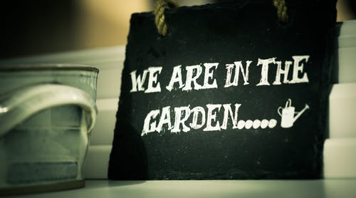 We are in the garden sign--1st Abundant Garden